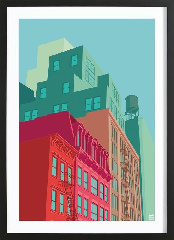 Mulberry Street Soho New York City ingelijste print