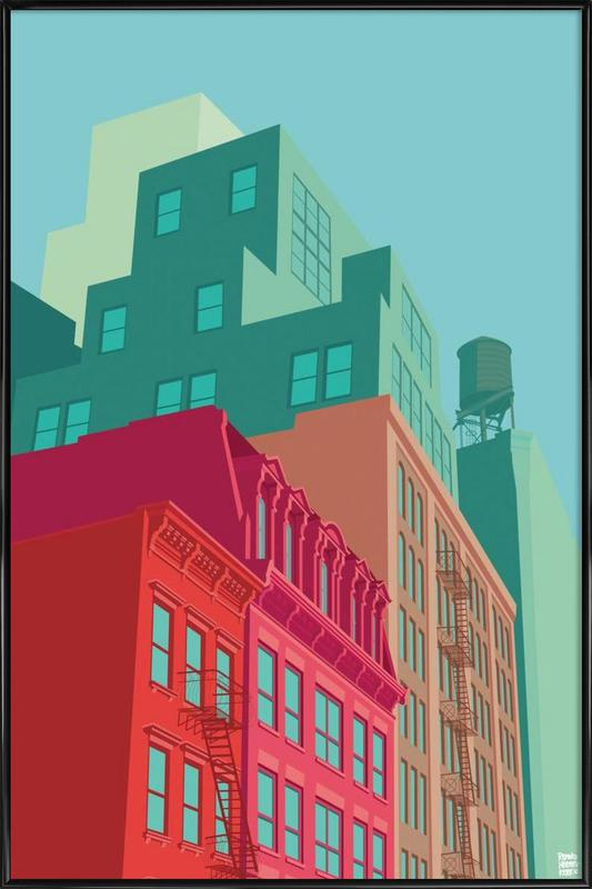 Mulberry Street Soho New York City ingelijste poster