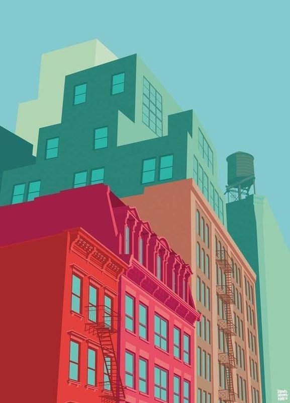 Mulberry Street Soho New York City canvas doek