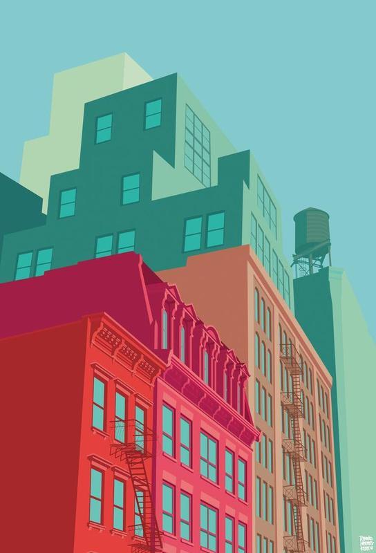 Mulberry Street Soho New York City acrylglas print