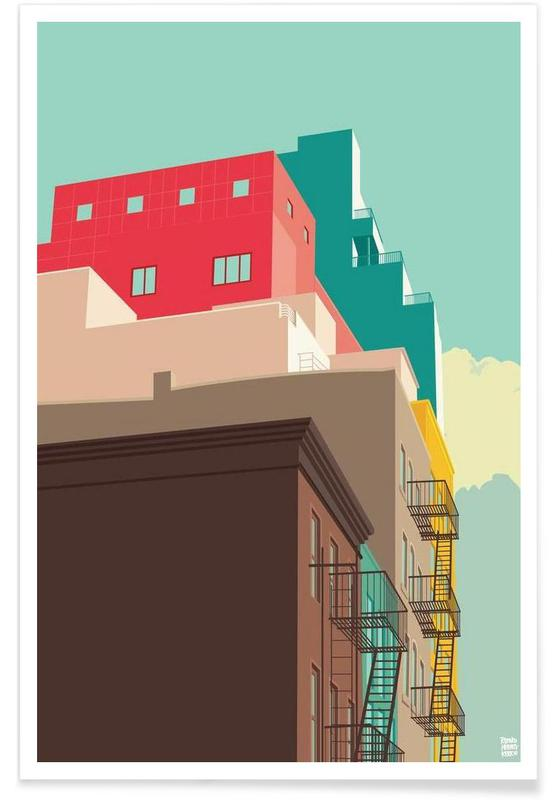 Détails architecturaux, New York, Lower East Side New York City affiche
