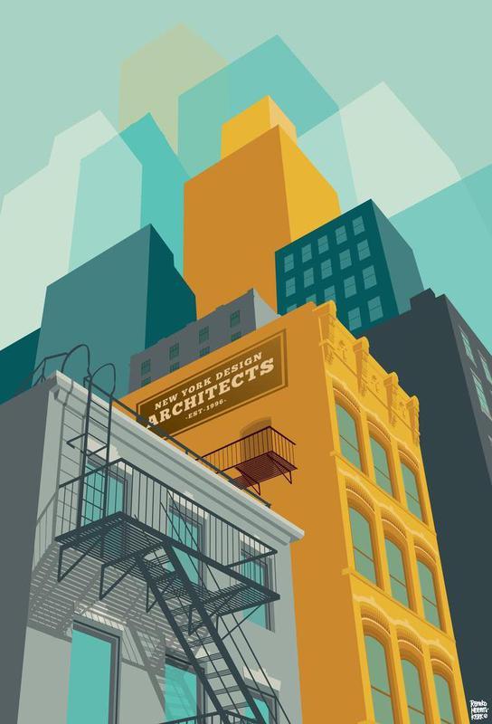 Tribeca New York City -Acrylglasbild
