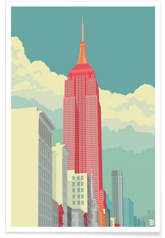New York, Monuments et vues, 5th Avenue New York City affiche