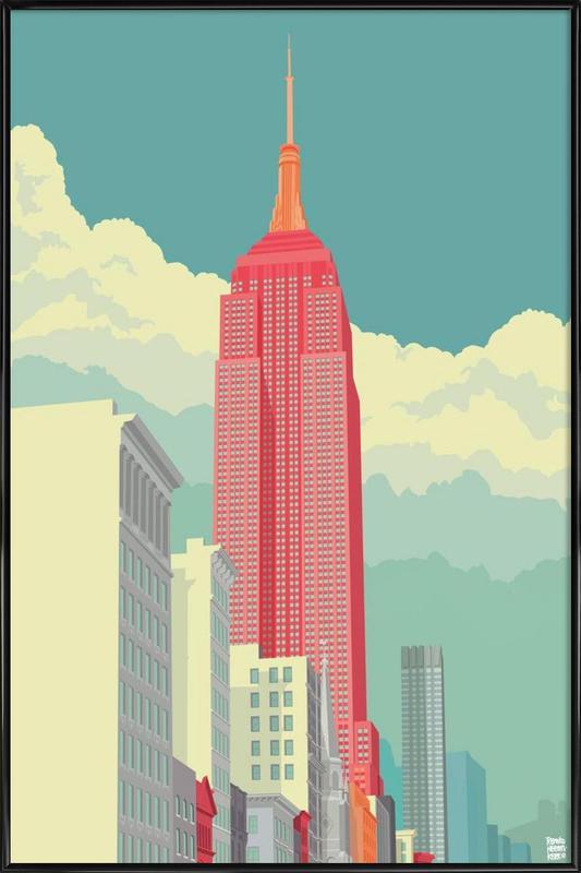 5th Avenue New York City -Bild mit Kunststoffrahmen