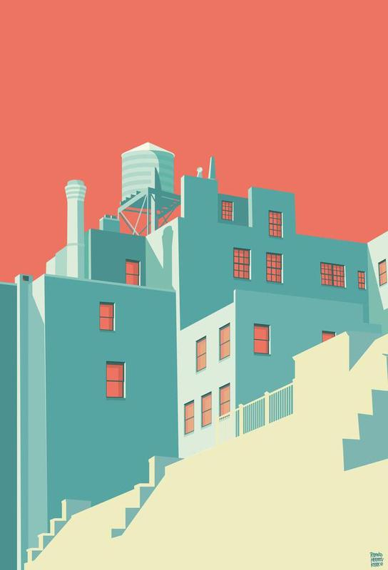The Village New York City Aluminium Print