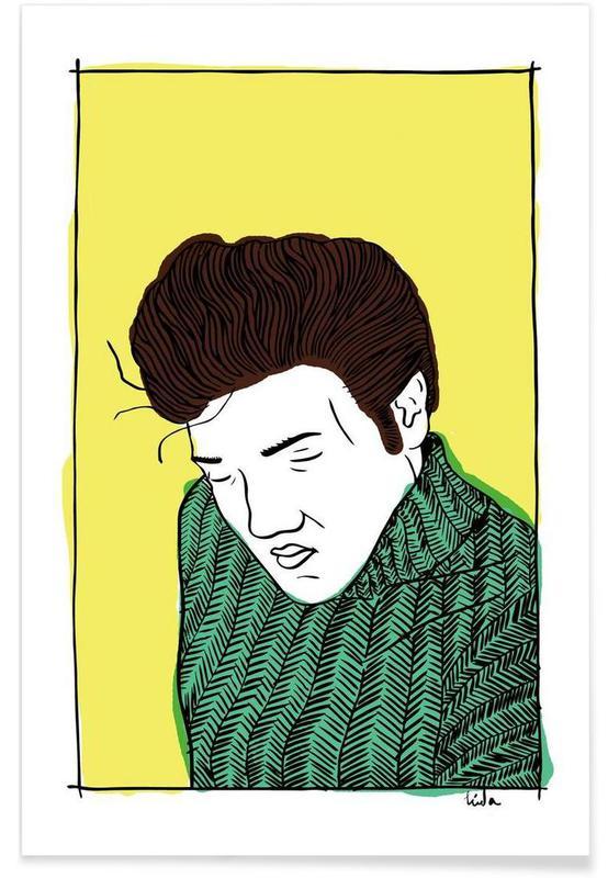 Elvis Yellow poster