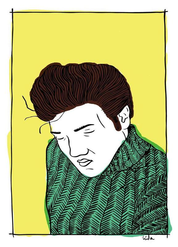 Elvis Yellow -Leinwandbild