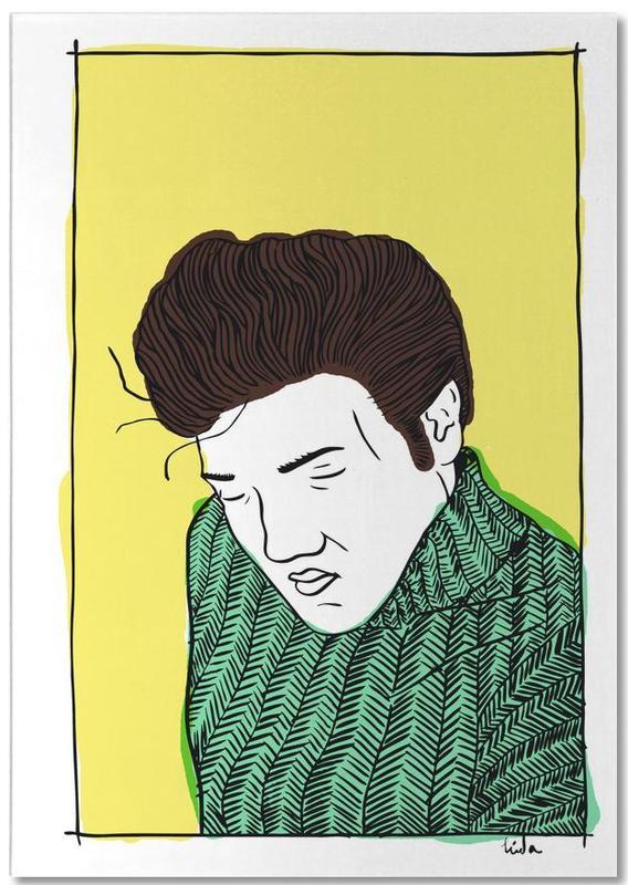 Elvis Yellow Notepad