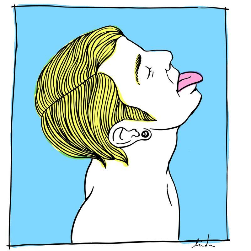 Lick Impression sur alu-Dibond