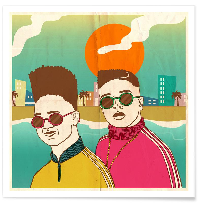 Retro, I Love The 80s Poster