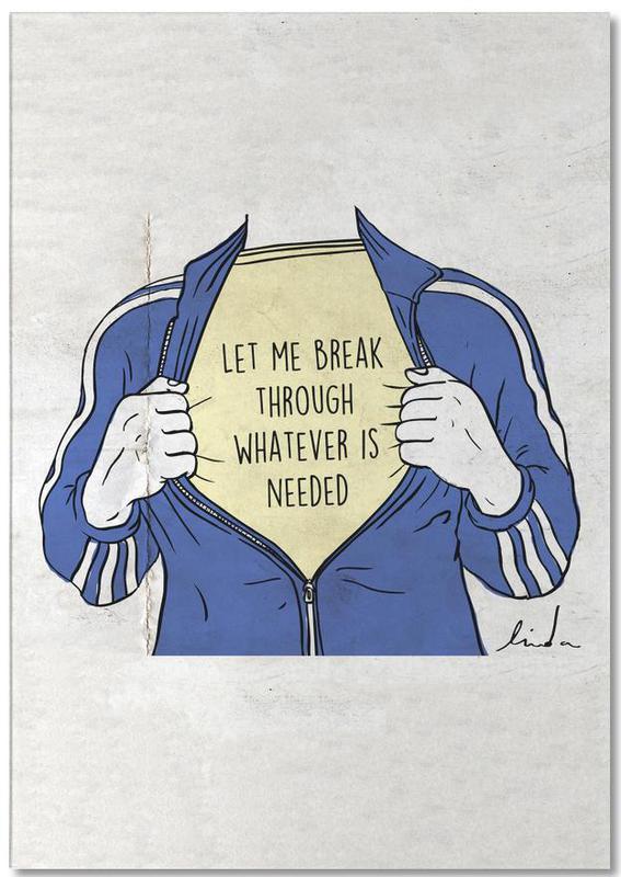 Détails corporels, Motivation, Excuses, Break Through bloc-notes