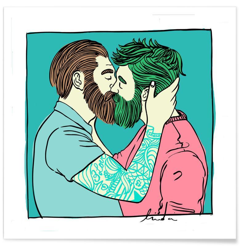 Men Kiss 2 poster