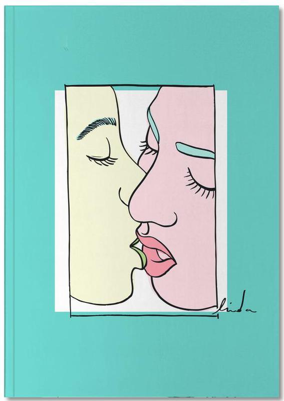 Couples, Women Kiss Notebook