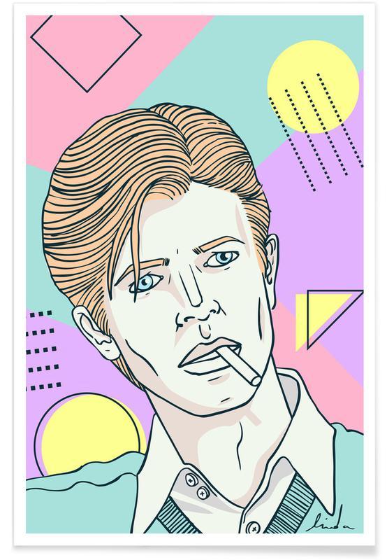David Bowie, Portraits, Bowie Thinwhiteduke affiche