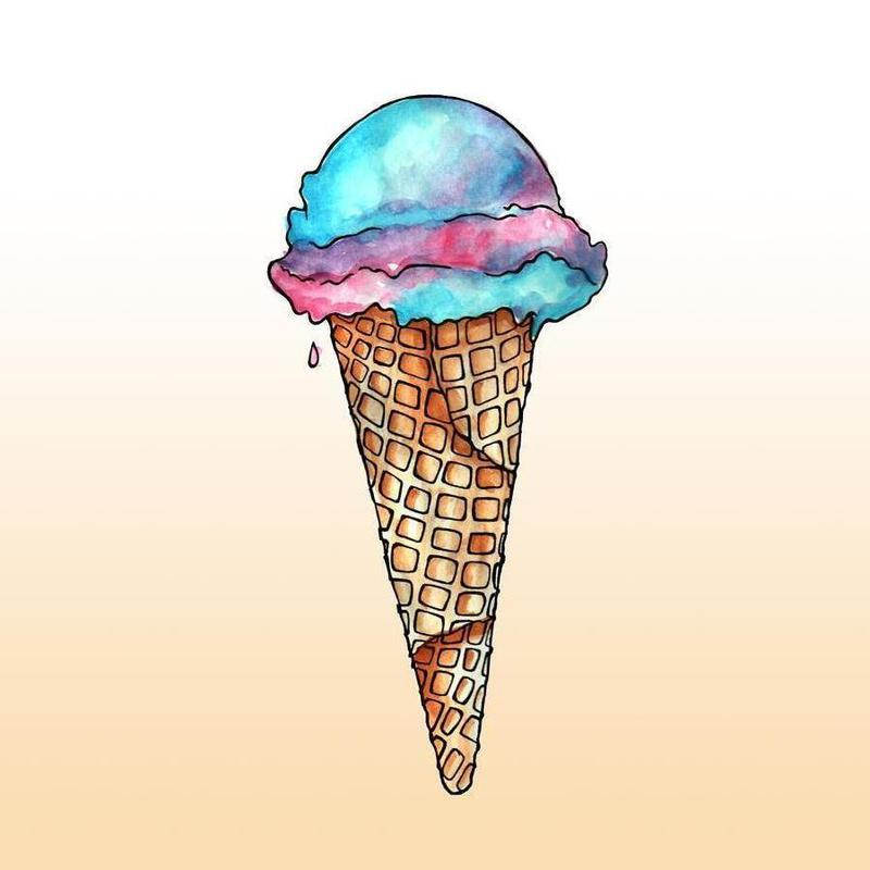 Ice cream -Leinwandbild
