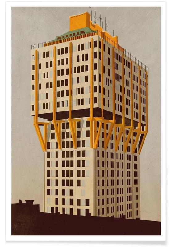 Gratte-ciels, Velasca Tower affiche