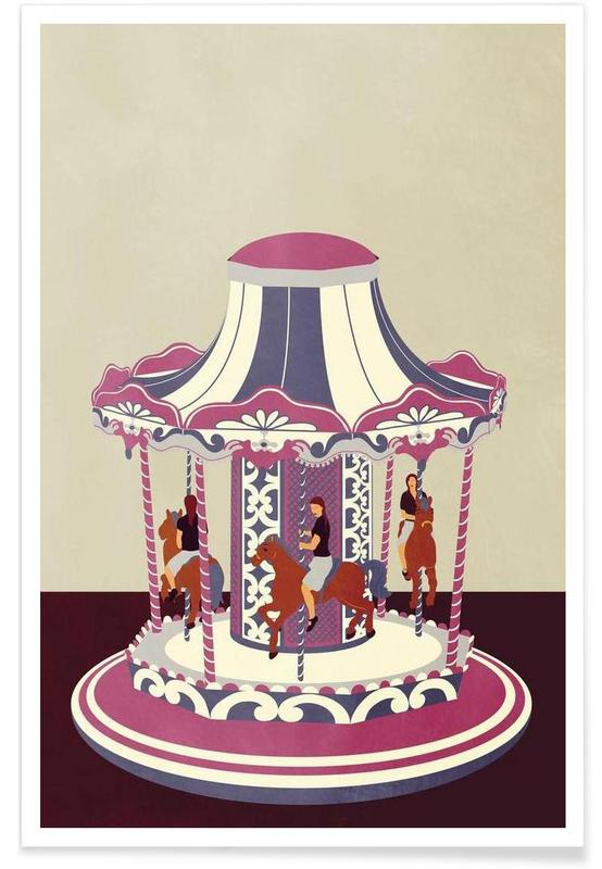 Art pour enfants, Carousel affiche
