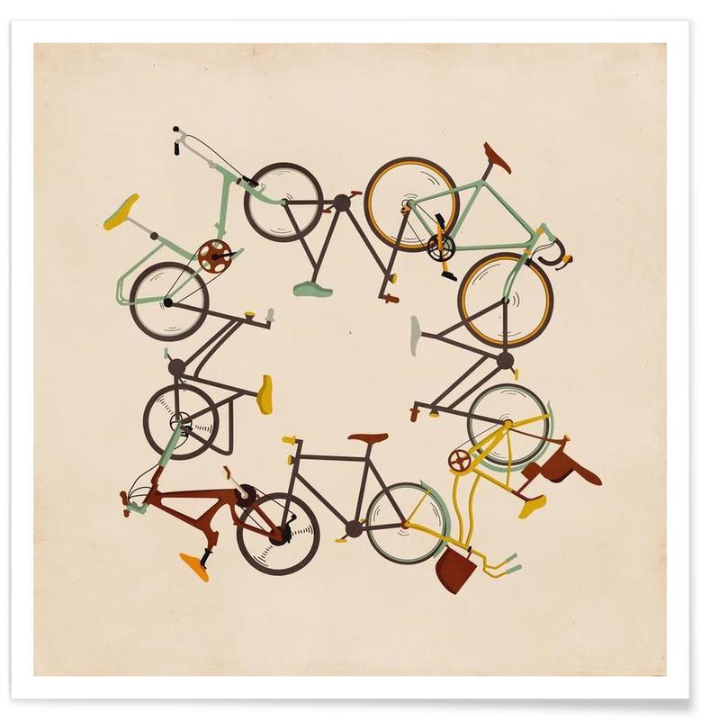 Vélos, Bikes affiche