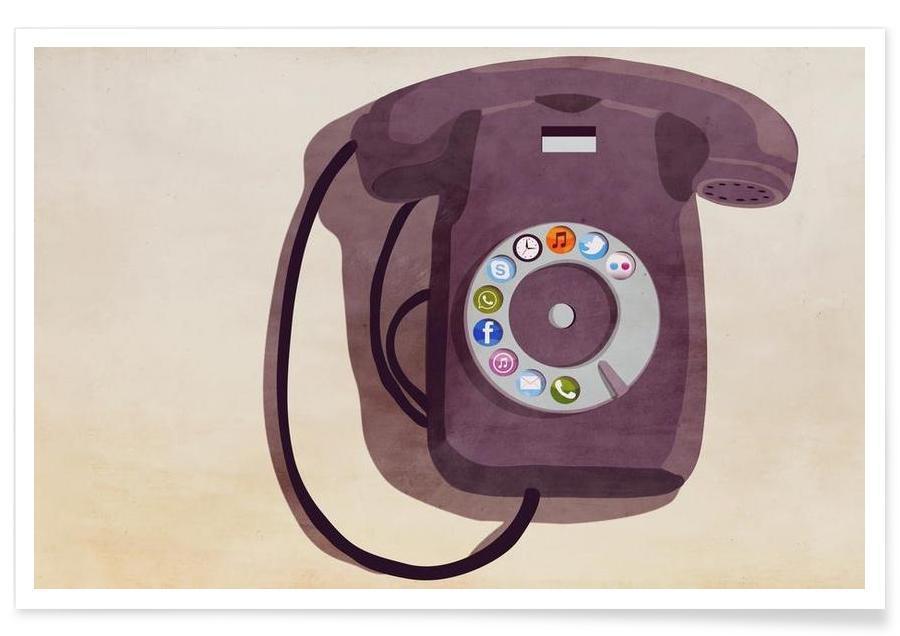 Rétro, Steampunk iPhone affiche