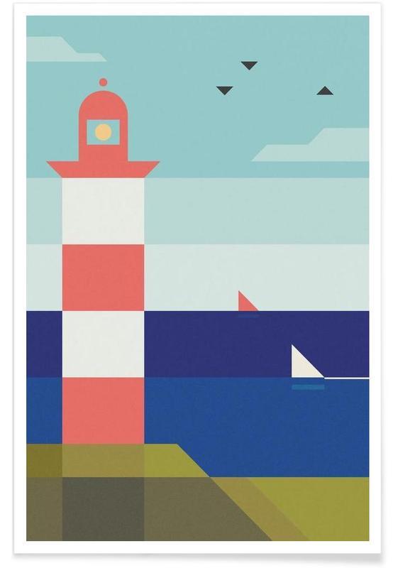 Abstracte landschappen, Lighthouse poster
