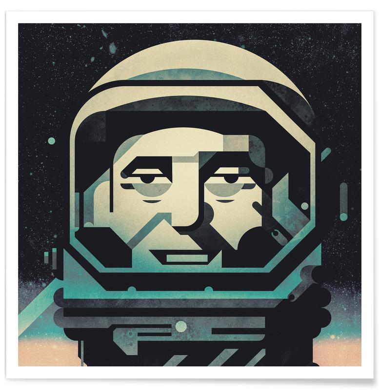 Astronauts, Mercury Poster