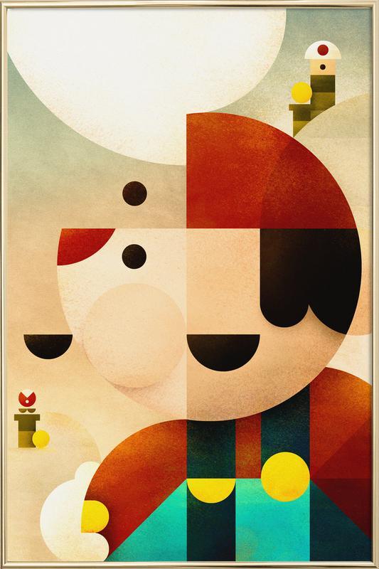 Mario Poster in Aluminium Frame