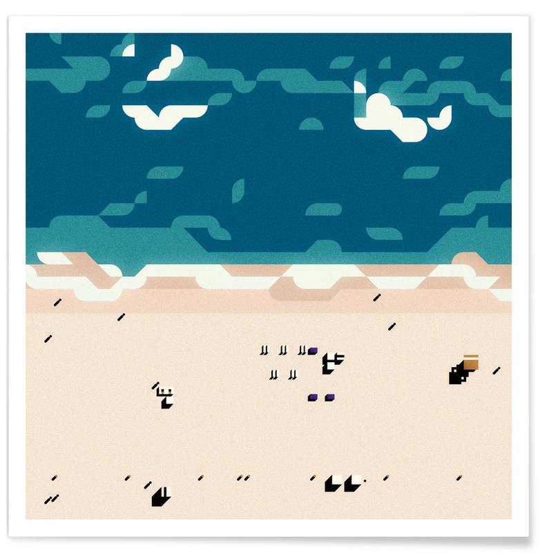 Miami, Abstrakte Landschaften, Miami HD -Poster