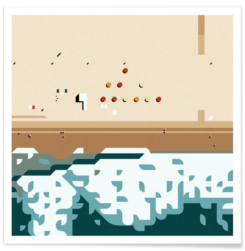 Abstrakte Landschaften, Santa Monica -Poster