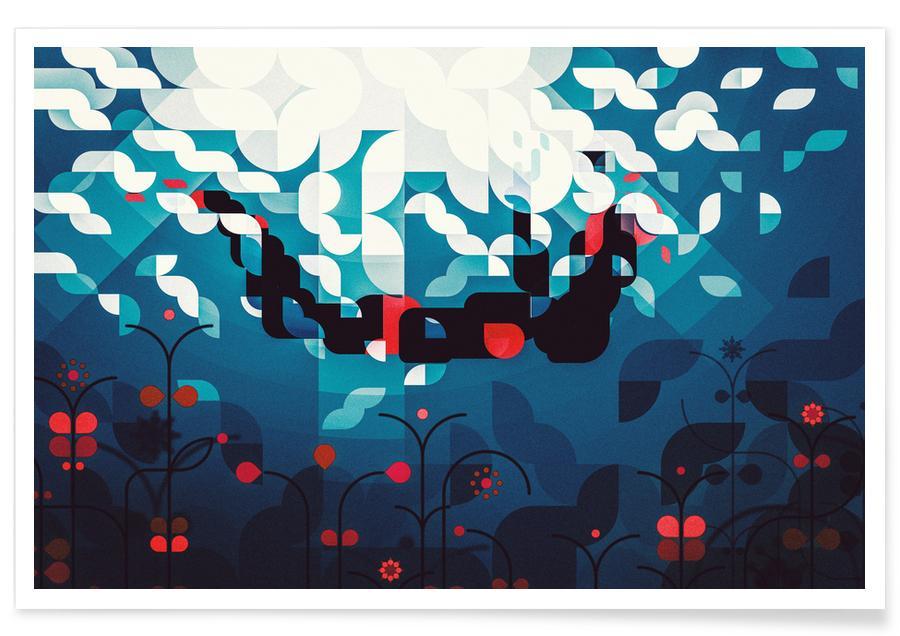 Abstracte landschappen, Crimson Roses poster