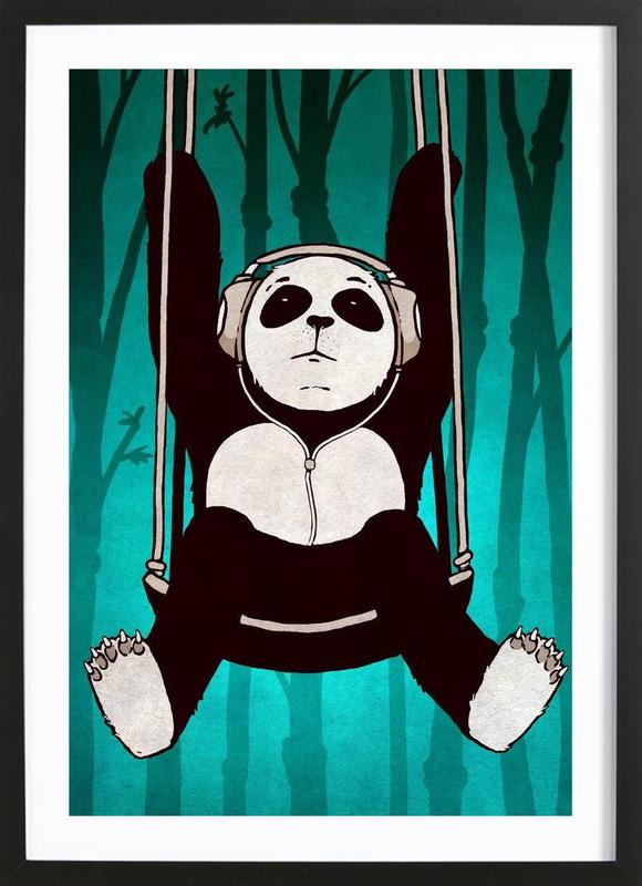 Panda swing Framed Print