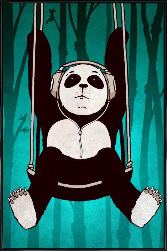 Panda swing Framed Poster