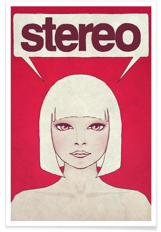 Portraits, Rétro, Stereo affiche