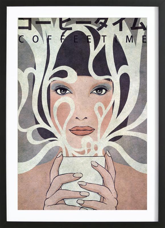 Coffee Time ingelijste print