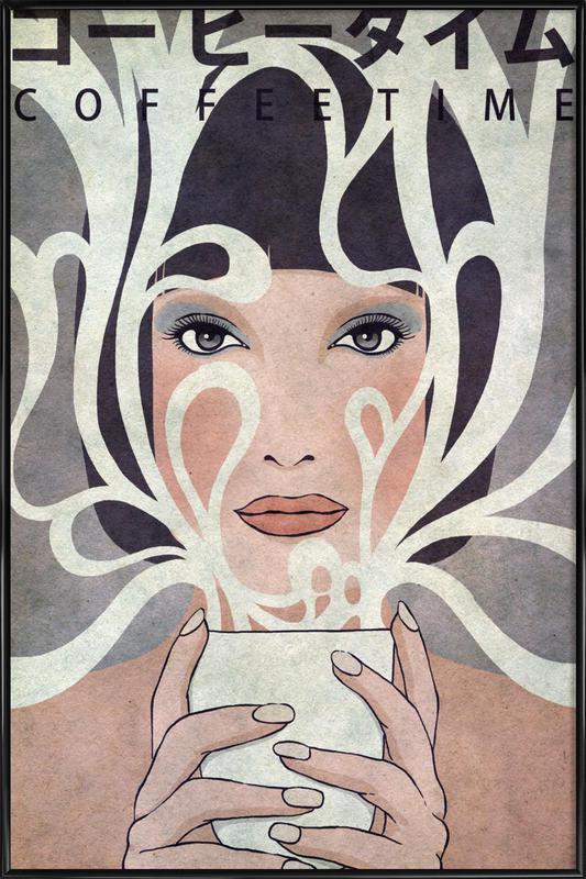 Coffee Time -Bild mit Kunststoffrahmen