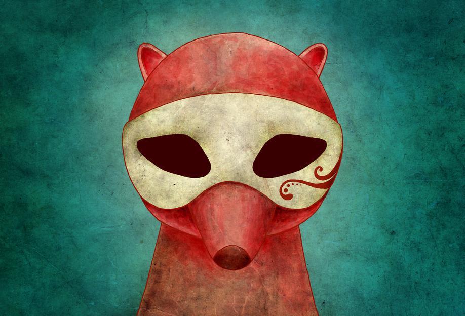 Death As A Fox In A Mask Acrylic Print