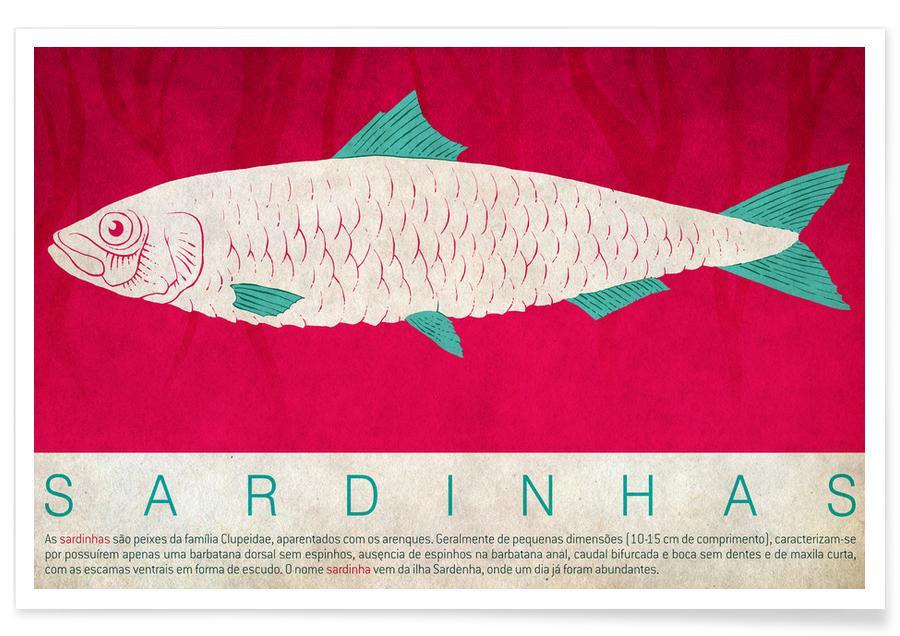 Fisk, Sardinhas Plakat