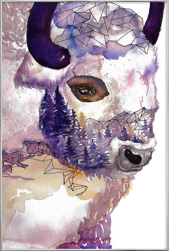 Buffalo Poster in Aluminium Frame