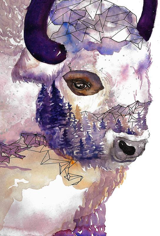 Buffalo -Acrylglasbild