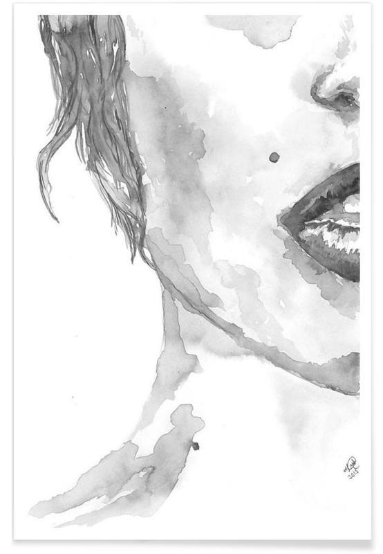Noir & blanc, Détails corporels, I am Listening affiche