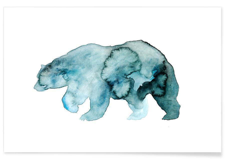 Ours - Aquarelle affiche