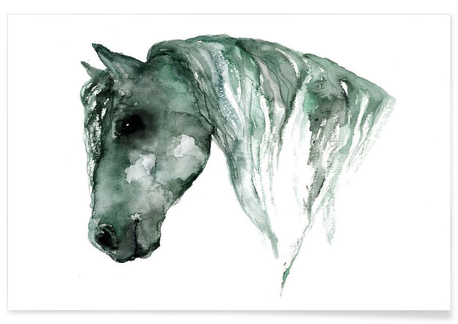 Horse Watercolour Poster