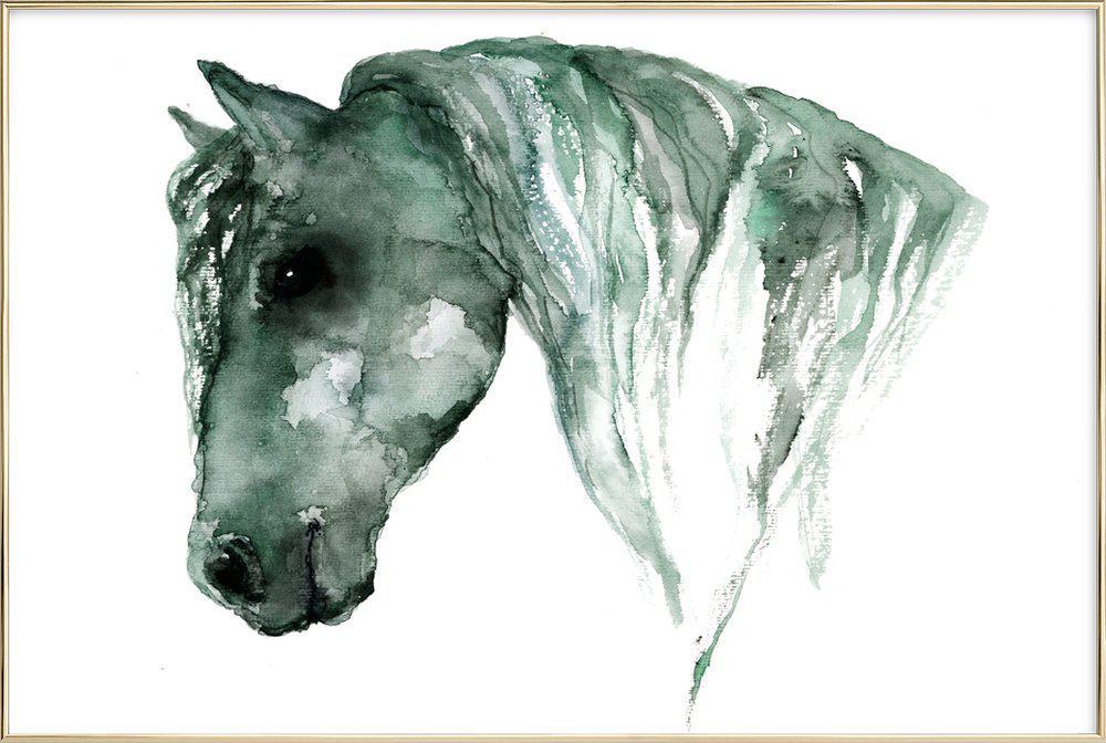 Horse Poster in Aluminium Frame