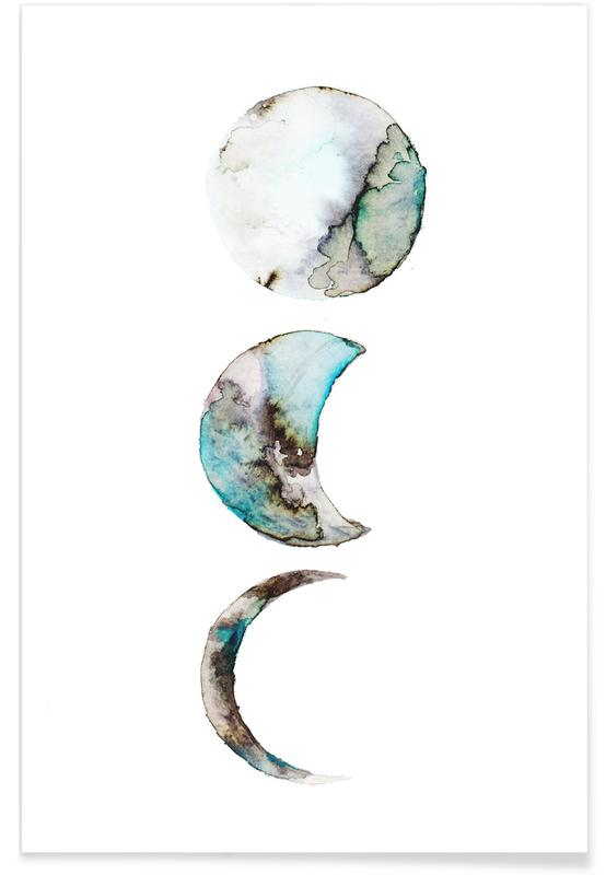 Dreamy, Moon, Moon Poster