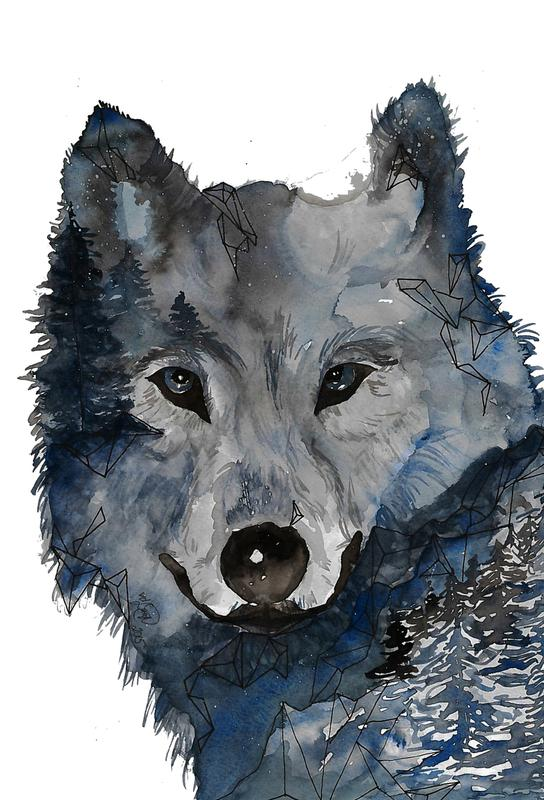 Nightwolf Aluminium Print