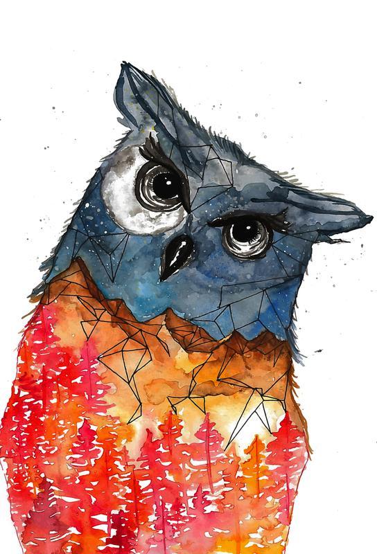 Owl -Acrylglasbild