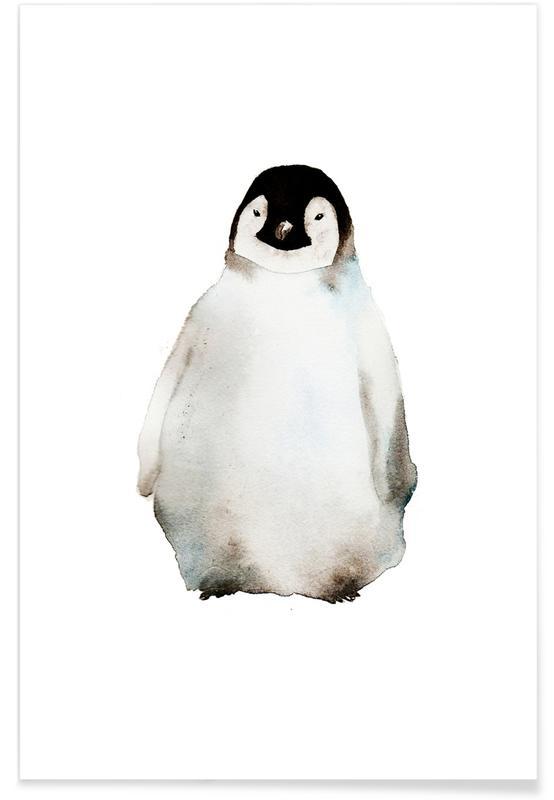 Pinguin-Aquarell -Poster