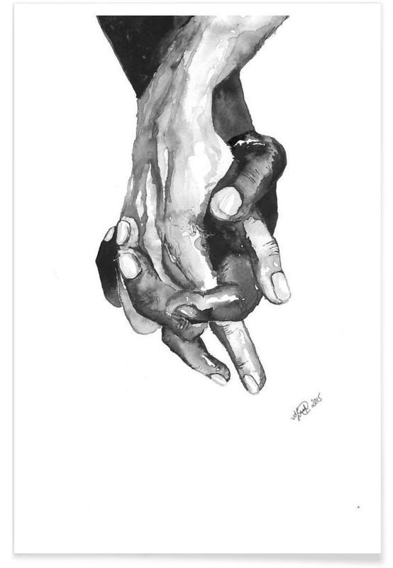 Noir & blanc, Détails corporels, I am a Friend affiche