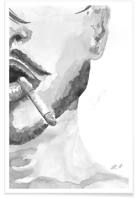 Black & White, Body Close-Ups, I am Confident Poster