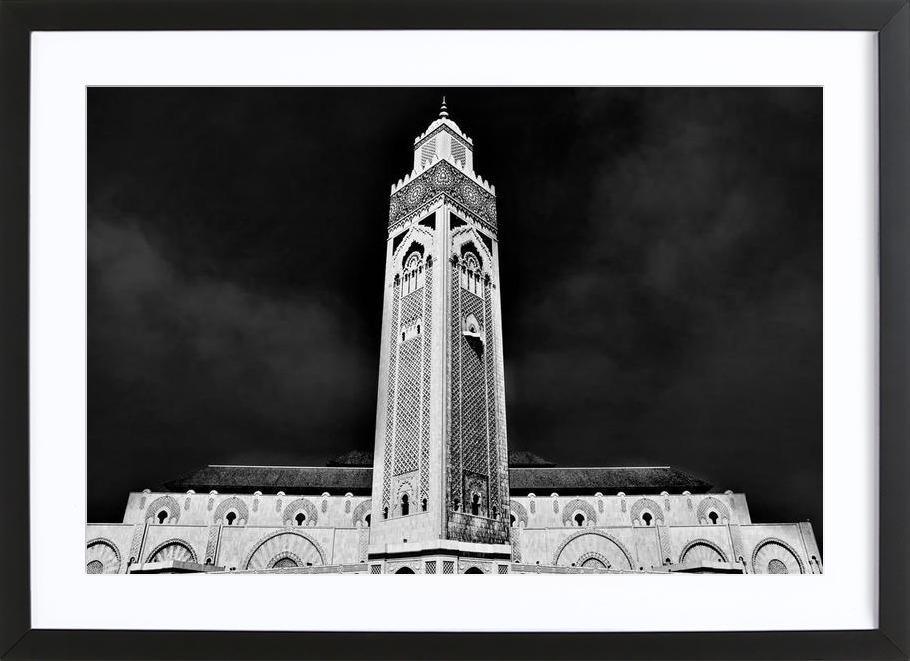 Hassan II Mosque 2 -Bild mit Holzrahmen