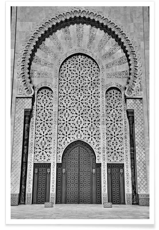 Schwarz & Weiß, Sehenswürdigkeiten & Wahrzeichen, Hassan II Mosque 3 -Poster